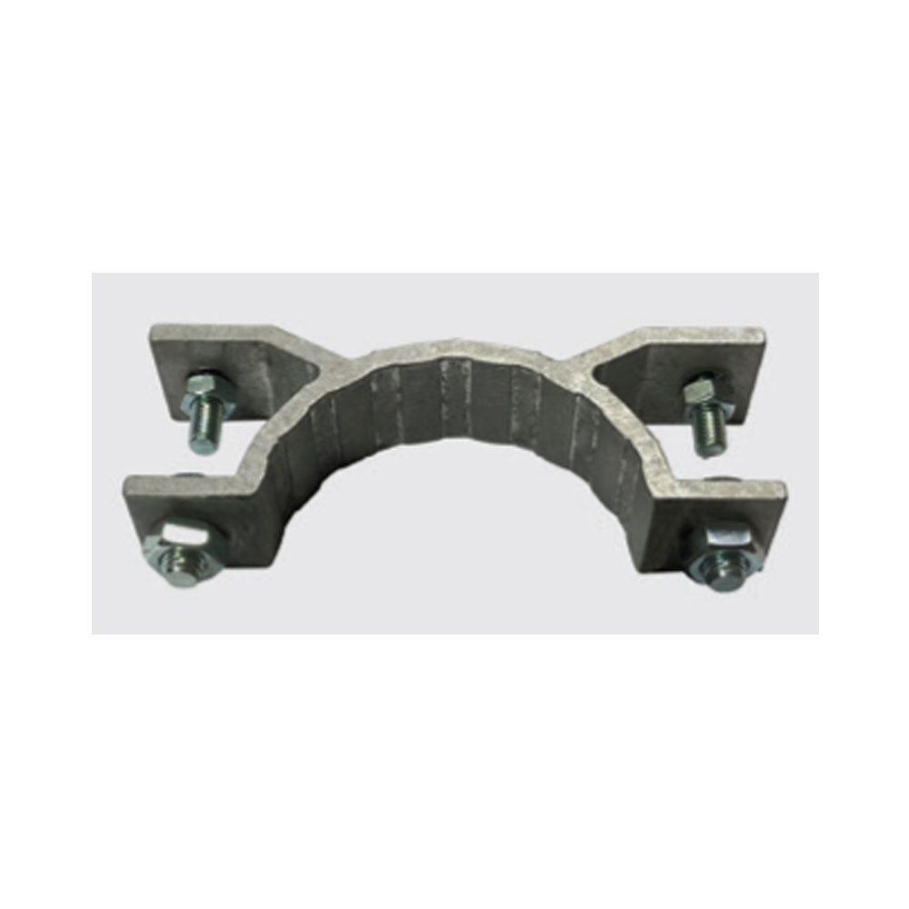 Abrazadera de aluminio con solapa